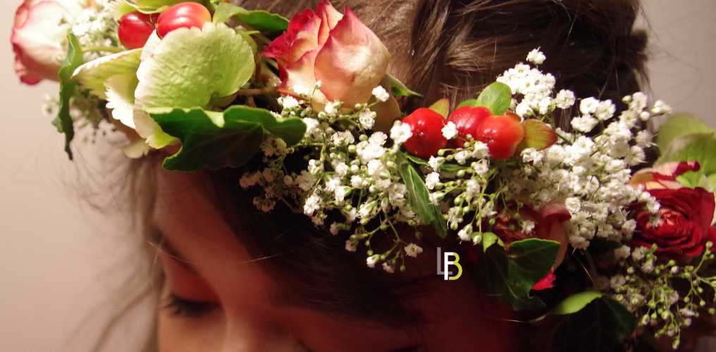 Serre tête mariage bouquet