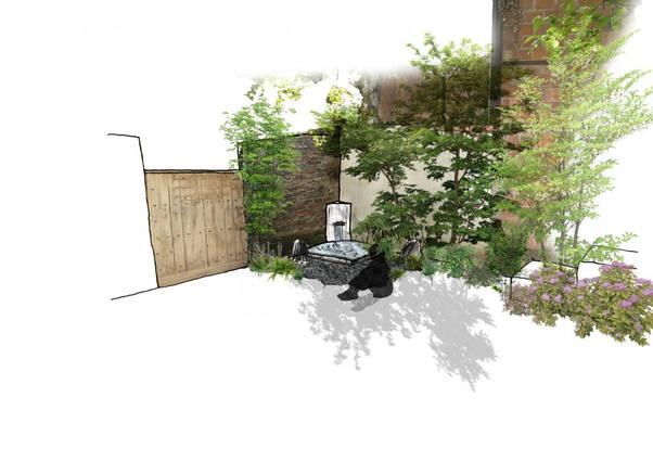 Décoration terrasse jardin paysagé