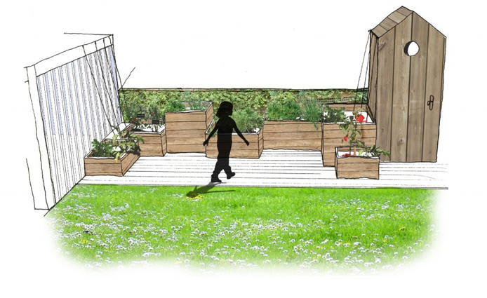 Terrasse modèle